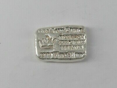 Monarch 1 Oz Poured Loaf .999 Silver Ingot Bullion Bar - Item# 3366 • 28.60£