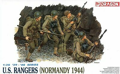 Dragon 1/35 6021 WWII US Rangers (Normandy 1944) (4 Figures) NO BOX!!			 • 15.99£