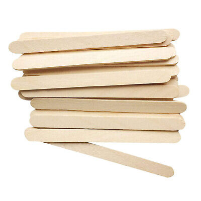 Natural Wooden Ice Lolly Lollypop Wood Sticks For Craft Model Making • 5.99£