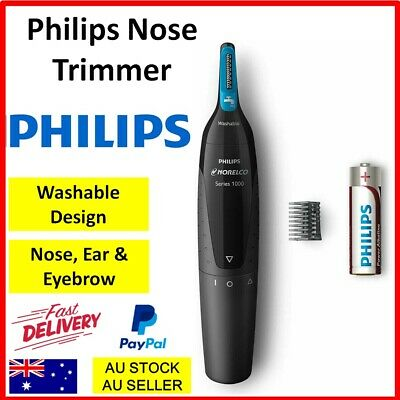 AU20.40 • Buy Philips Nose Ear Eyebrow Trimmer Facial Hair Shaver Portable Cordless Battery