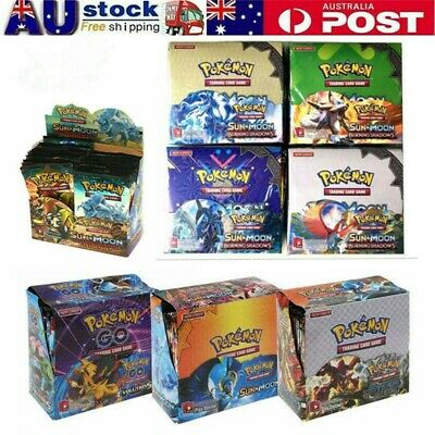 AU29.99 • Buy 324Pcs Pokemon TCG Booster Box English Edition Break Point 36 Packs Cards Set