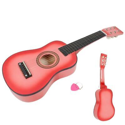 Children's 23  Guitar Kids Musical Instruments Wooden Guitar Pink • 10.99£