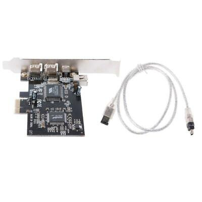 PCI-e 1X IEEE 1394A 4 Port(3+1) Firewire Card Adapter 6-4 Pin Cable For Desktop • 7.60£