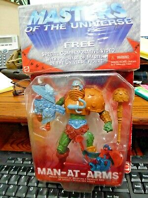 $13.89 • Buy 2001 MASTERS OF THE UNIVERSE MAN AT ARMS FIGURE SET MOC MATTEL  W/Video RARE !!