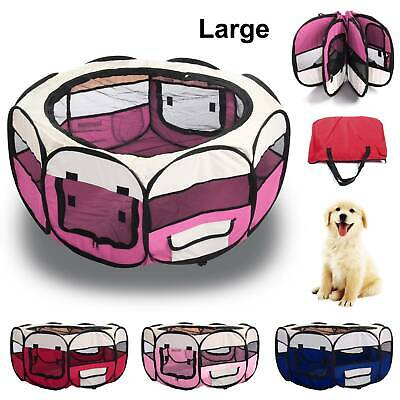 £23.99 • Buy Large Foldable Soft Fabric Dog Crate Cat Cage Pet Travel Puppy Play Pen Tent UK