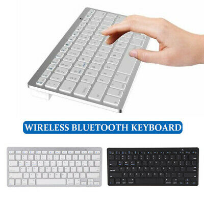 Led4@ NEW Slim Wireless Bluetooth Keyboard For IMac IPad Android Phone Tablet PC • 18.51£