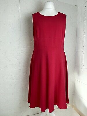 AU18.04 • Buy Hobbs Women's UK14 Dress Skater Style Stretchy Formal Work Occasion Pink E553