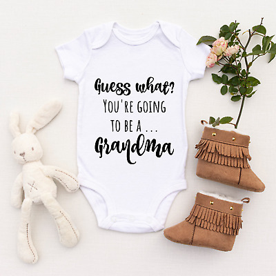 £5.99 • Buy Going To Be A Grandma Baby Announcement, Personalised Baby Grow Baby Vest