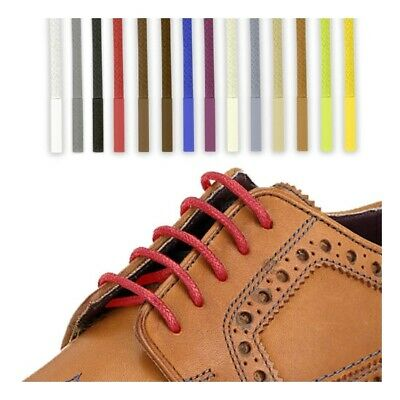 £7.07 • Buy Led4@ Waxed Cotton Shoelaces Round Thin Dress Wax Cord Shoe Laces Brogues Shoes