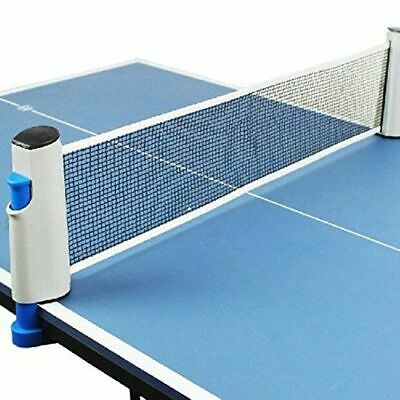 Retractable Table Tennis Net Portable Ping Pong Table Net  Kit Grey & Blue • 7.99£