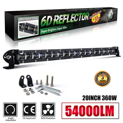 $36.57 • Buy 20INCH 360W Led Light Bar Work Flood Spot Beam Driving Offroad 4WD Truck FOG SUV