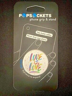 AU14.40 • Buy Genuine PopSockets Grip Mobile Stand Holder - Love Is Love
