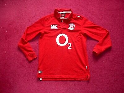 Canterbury England Away Rugby Union Shirt/top/jersey/child 12 Years • 3.50£