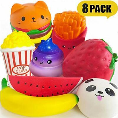 AU55.53 • Buy PARTYKA 8pcs Squishies Pack - Squishies For Girls And Boys Jumbo Squishys Pack
