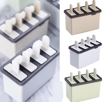 UK DIY Ice Cream Mold Popsicle Maker Lolly Mould Tray Pan Kitchen Freezer` • 2.99£