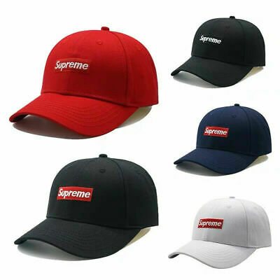 Supreme Hats Mens Womens Baseball Cap Adjustable Head Sport Caps Embroidery LOGO • 10.22£