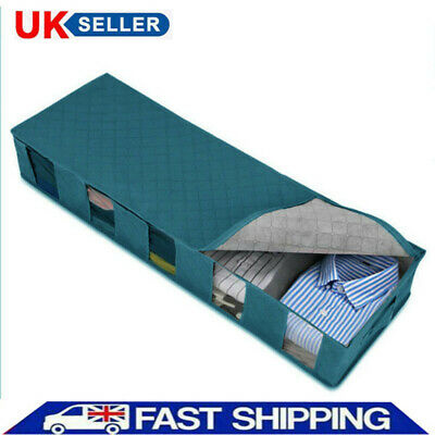 1/2PCS Large Capacity 5 Compartments Clothes Organiser Under Bed Storage Bag Box • 6.99£