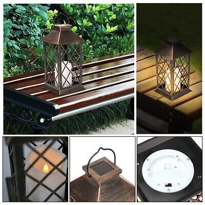 Waterproof LED Solar Lantern Light Powered Hanging Outdoor Garden Candle Lamp • 10.99£