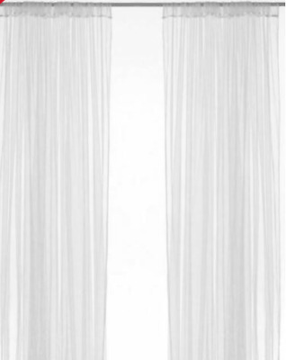 Ikea Lill Net Curtains Pair White 280cm Wide X 250cm Drop New In Packaging W263 • 4.95£