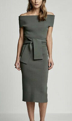 AU180 • Buy Scanlan Theodore Crepe Off The Shoulder Dress Size M