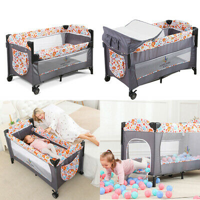 £69.95 • Buy Foldable Travel Baby Next To Me Bedside Crib Cot Bed With Mattress And Playpen