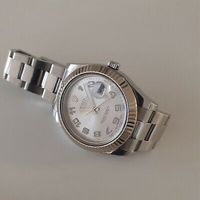 $ CDN11512.80 • Buy Rolex Datejust II 41 Mm Steel 18K Gold Bezel Automatic Grey Arabic Watch 116334