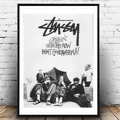 £11 • Buy STUSSY Vintage Ad Fashion A3 Poster, Wall Art, Prints For Walls, Home Decor