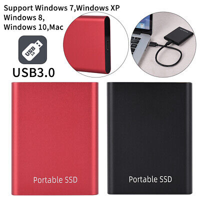 USB 3.0 External Solid State Drive SSD Portable Mobile 500GB 1TB 2TB Hard Drives • 40.15£