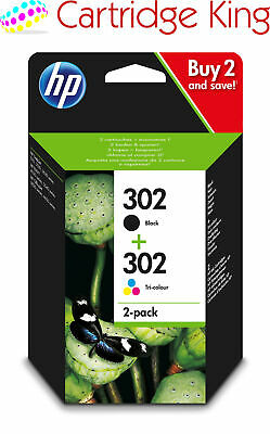 Original HP 302 2-Pack Black/Tri-colour Original Ink Combo Pack X4D37AE For Envy • 30.49£