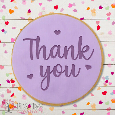 £4.95 • Buy Thank You Embosser Stamp, Cookie Cutter, Fondant Cupcake, Baking *NEW*