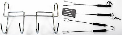 Grill-Komplettset Grilling Utensils Grill Accessories Tongs Barbecue Fork Turner • 12.18£