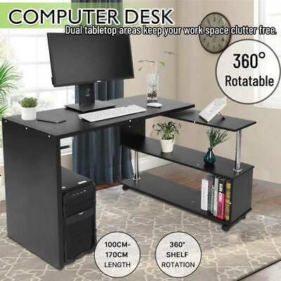 AU88.88 • Buy Computer Desk PC Laptop Table Workstation With Shelves Study Writing Home Office
