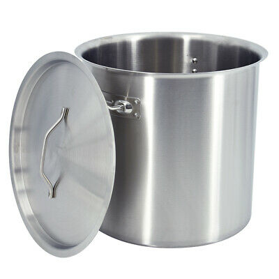 £69.90 • Buy 36 Liter Stainless Steel Deep Stock Pot Cater Stockpot Stew Soup Cooking Boiling