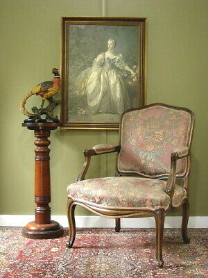 AU550 • Buy French Fauteuil Chair / Armchair ~ Beautiful Floral Fabric ~ Bedroom/living