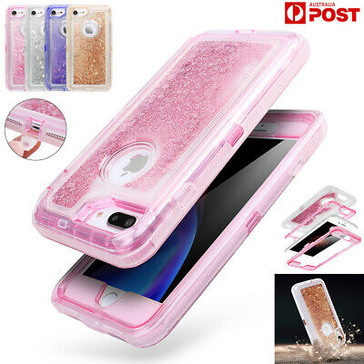 AU10.90 • Buy For IPhone 8 7 6s Plus XR XS Max Liquid Glitter Quicksand Clear Shockproof Case