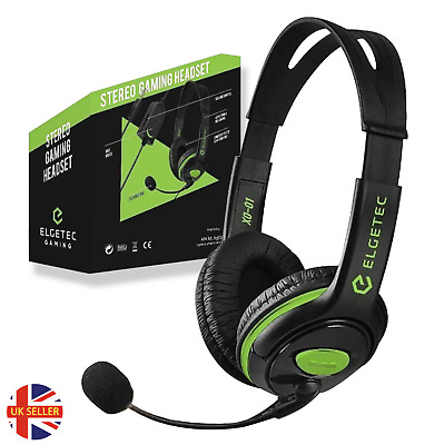 £9.99 • Buy XBOX ONE HEADSET - OFFICIAL Elgetec HEADSET For - X, S CHAT HEADPHONES MIC 3.5mm