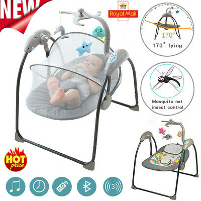 £59.96 • Buy Baby Electric Bouncer Swing Seat Portable Musical Infant Cradle Rocking Chair UK