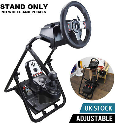 Foldable Racing Simulator Steering Wheel Stand For Logitech G25/G27/G29/G920 PS3 • 65.99£