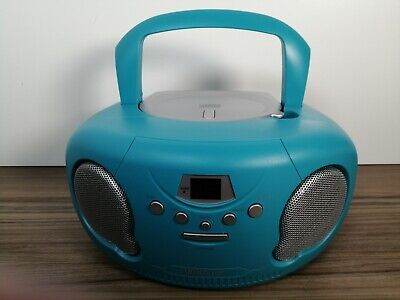 Groov-e Portable CD Player Boombox With AM/FM Radio (Teal) BOXED  • 20£