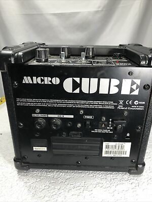 AU75.39 • Buy Roland Micro Cube Guitar Amplifier W/ Built In Effects - Tested Working