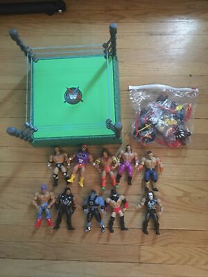 $249.99 • Buy WWE Masters Of The Universe Wave 1 & Wave 2 Loose Figures With Ring Lot Of 10