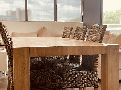 AU76 • Buy Freedom Furniture - Dining Table And Six Chairs