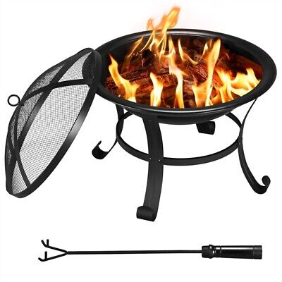 £69.69 • Buy Outdoor Fire Pit Bowl For Backyard/Garden Patio Heater For BBQ/Camping Bonfire
