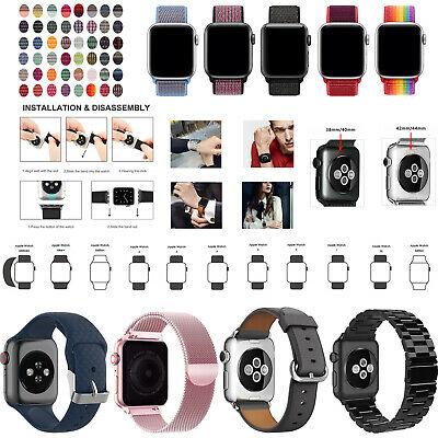 £5.99 • Buy For Apple Watch Strap Band IWatch Series 6 SE 5 4 38/40/42/44mm Replacement Band