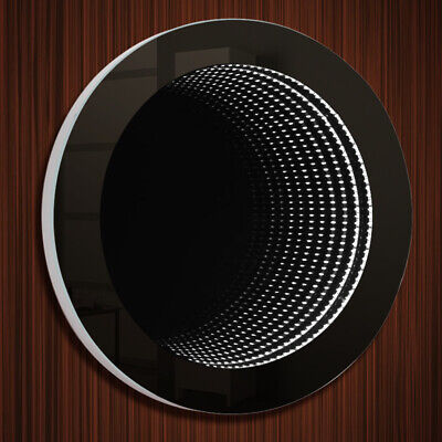 £125.95 • Buy Round 3D Infinity Mirror LED Illuminated Tunnel Effect Wall Lights With Remote