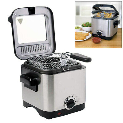 £29.74 • Buy 1.5ltr Compact 900w Electric Stainless Steel Deep Fat Fryer Non-stick Chip Pan