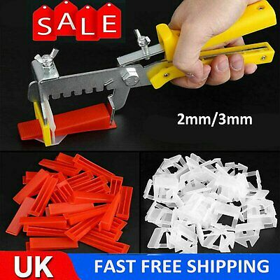 UK 400 X Tile Leveling Spacer System Tool Clips Wedges Flooring Lippage Plier • 11.38£