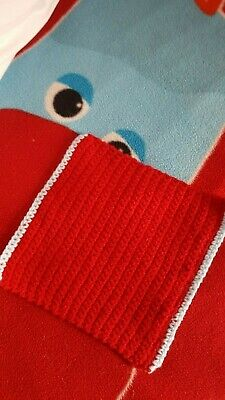 Iggle Piggles Little Comfort Blanket, Machine Washable. Handmade ,red With Blue • 2.99£