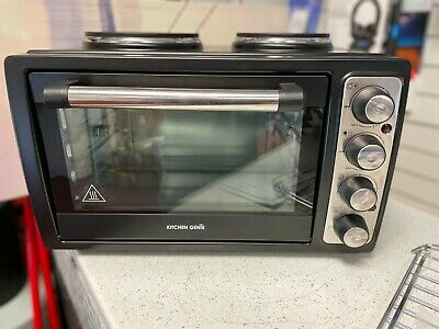 £96.99 • Buy Kitchen Genie Electric Table Top Compact Oven 28L With Double Hot Plates 3100W