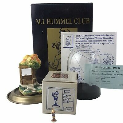 $33.96 • Buy 1991 M.I. Hummel Club Bavarian Bandstand And Morning Concert Miniatures With Box